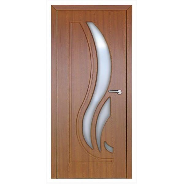 Міжкімнатні двері Неман зі склом САБРІНА Н-71 дуб золотий