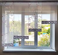Комплект  штор тюль Сакура сирень, фото 1