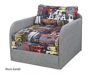 Детский раскладной диван Юниор NEW мюзик (серый) Мебель-сервис