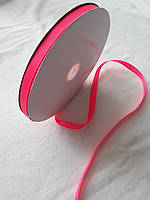 Лента репс 1см, розовая, фото 1