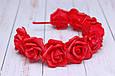 Обруч для волос с красными розами  / ободок на голову / украшение, фото 3
