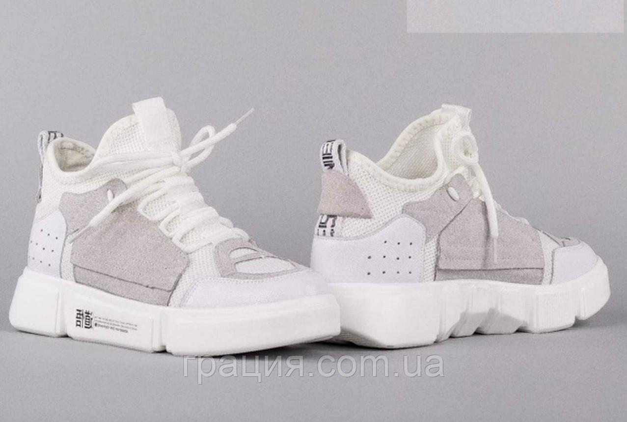 Молодіжні модні кросівки на платформі