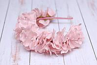 Обруч Розовая пудра Гортензия, фото 1