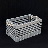 "Деревянный ящик ""Gom""-gray / Хранение / Органайзер / Фото фон / Декор для магазина / Фото декор / Кашпо , фото 1"
