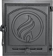 Печные чугунные дверцы Halmat Plomien (Н1623) (370x330)