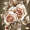 Схема для вышивки бисером Карамельные розы