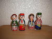 Сувенирные куклы казак и казачка (маленькие)