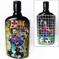 Декор бутылки Футбольному фанату ФК Барселона Месси Лионель Подарок мужчине на новый год