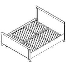 Кровать LOZ/160  Граф Орех Верона (Гербор TM), фото 2
