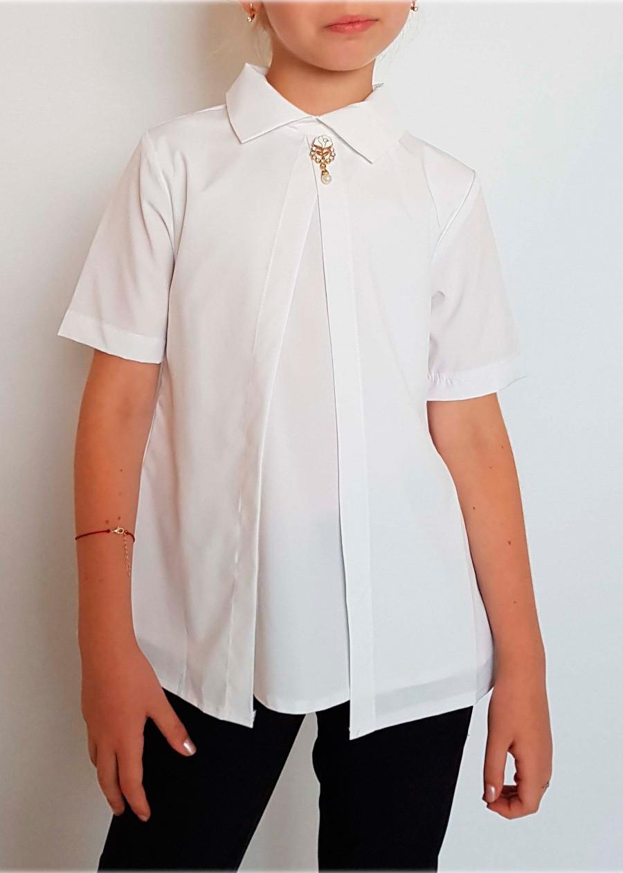 Блузка в школу белая