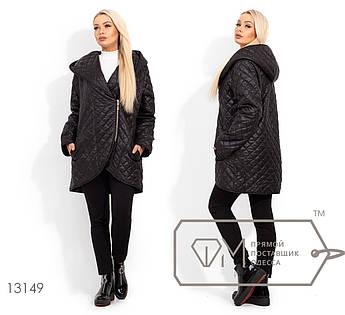 Удлиненная куртка с короткой застежкой-молнией, капюшоном и закругленным подолом 13149