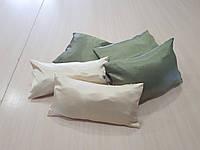 Комплект подушек зелень и беж атлас жаточка, 5 шт