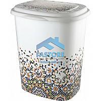 """Корзина для белья в ванную Elif Plastik """"Patterned"""" 45 л."""