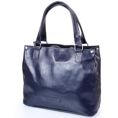 Сумка повседневная (шоппер) Laskara Женская кожаная сумка LASKARA (ЛАСКАРА) LK-DD219-navy