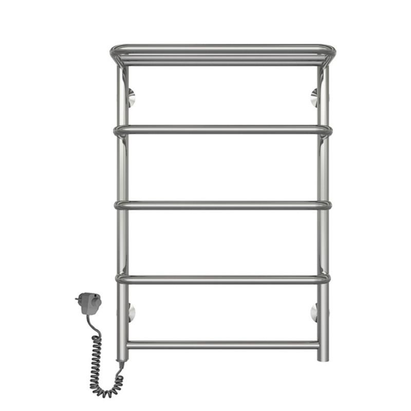 Электрический полотенцесушитель  Q-tap Standard shelf (CRM) P5 500х700 LE