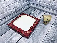 Коробка для пряников / 230х230х30 мм / печать-Снег.Красн / окно-обычн / НГ, фото 1