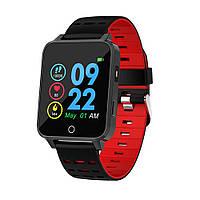 Фитнес браслет Lemfo X9 с сенсорным экраном и влагозащитой IP68 (Красный), фото 1