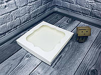 Коробка для пряников / 230х230х30 мм / Белая / окно-обычн, фото 1