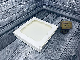 *10 шт* / Коробка для пряников / 230х230х30 мм / Белая / окно-обычн