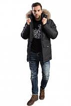 Зимняя мужская куртка с меховым капюшоном Hermzi 48-58р, фото 3