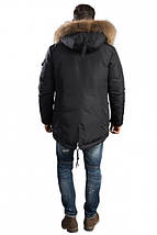 Зимняя мужская куртка с меховым капюшоном Hermzi 48-58р, фото 2
