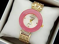 Оригінальні жіночі наручні годинники Baosaili з короною, рожевий обідок навколо циферблата, золото, фото 1