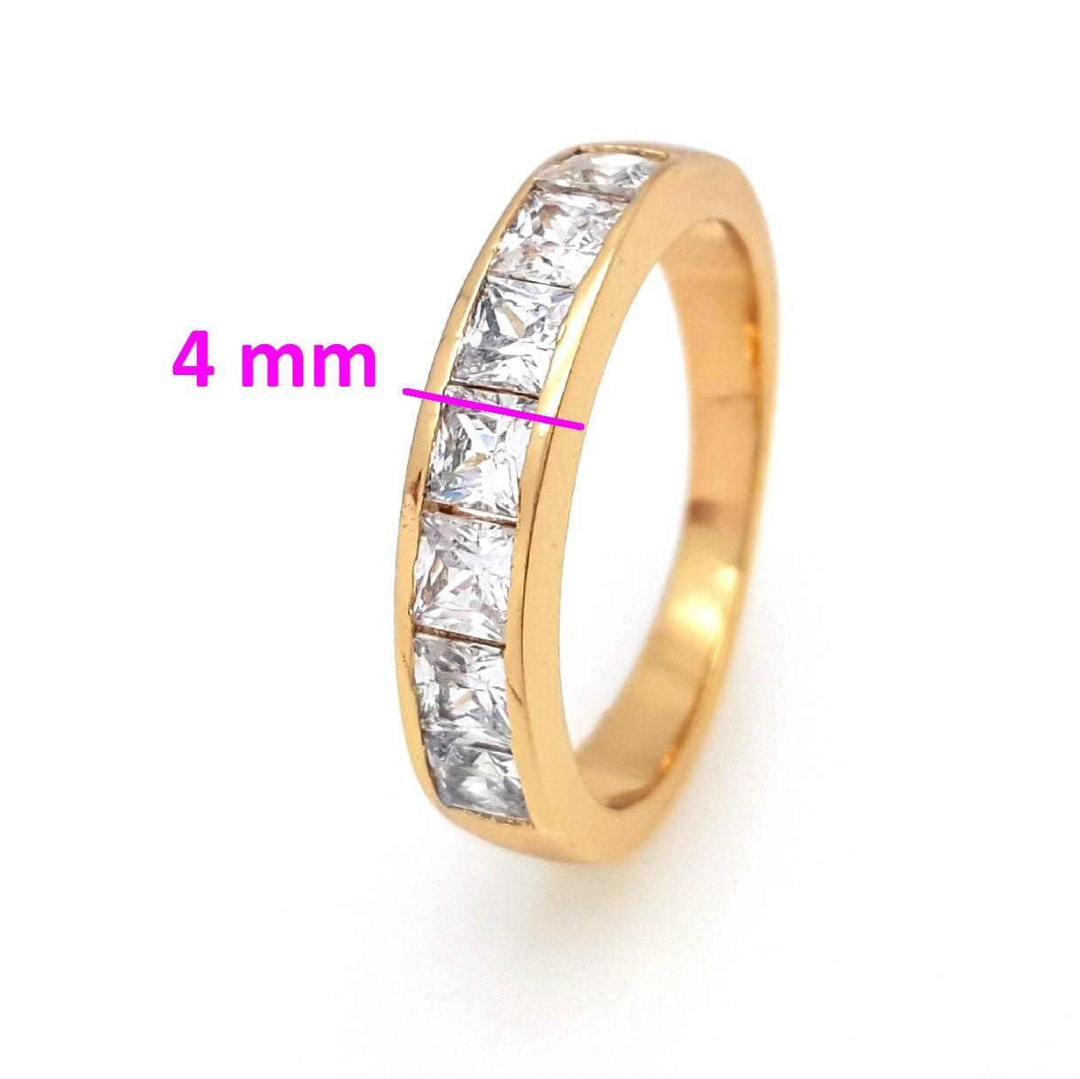 Кольцо позолоченное Xuping, Дорожка с кубичным цирконием, р.16, р.17, р.17,5
