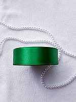 Лента атлас, 2,5 см, зеленая