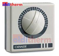 Комнатный механический датчик (термостат) для котла, конвектора CEWAL RQ 01