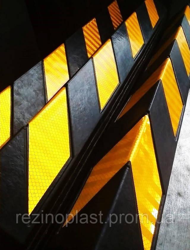 Угловая резиновая защита стен и колонн