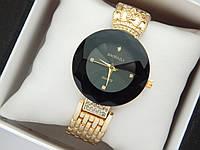 Оригінальні жіночі наручні годинники Baosaili з короною, чорний обідок навколо циферблата, золото, фото 1