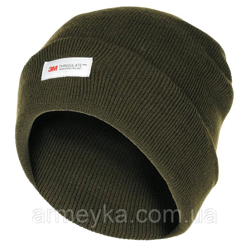Зимняя шапка акрил+Thinsulate, олива. Германия MFH.
