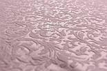 """Ткань жаккард шенилл пике """"Вензель"""", цвет розовой пудры (№2376), фото 5"""