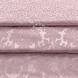 """Ткань жаккард шенилл пике """"Вензель"""", цвет розовой пудры (№2376), фото 6"""