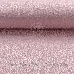"""Ткань жаккард для покрывал """"Вензель"""", цвет розовой пудры (№2376)"""