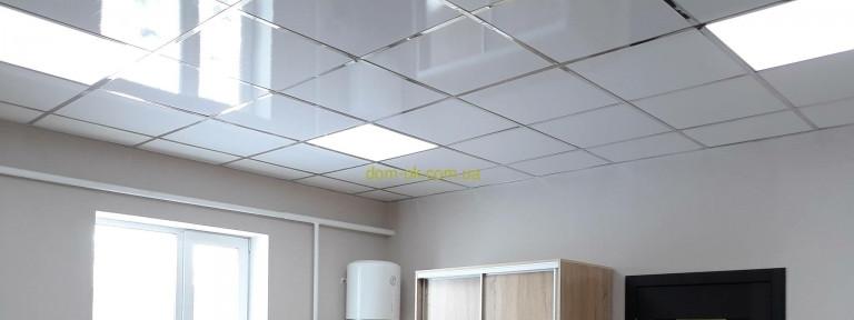 Плита пластиковая для подвесного потолка белый Глянец цена от 90 шт