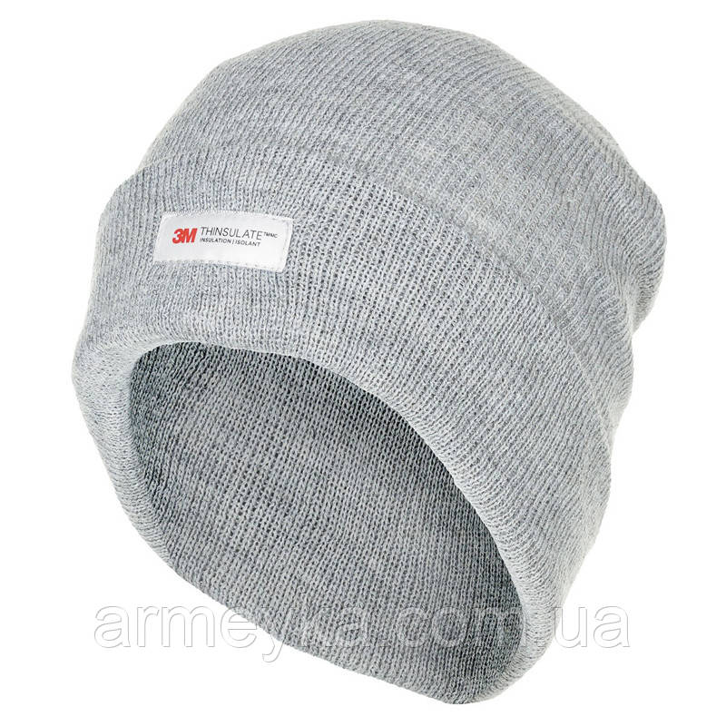 Зимняя шапка акрил+Thinsulate, серая. Германия MFH.