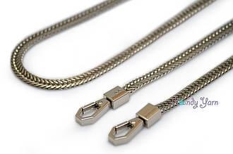 Ручка-цепь для сумки 110*0,7см+карабин, Серебро