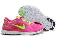 Кроссовки женские Nike Free Run Plus 3 (найк фри ран, кроссовки для бега, nike free, оригинал) розовые