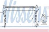 Радиатор охлаждения CITROEN, Nissens 61315