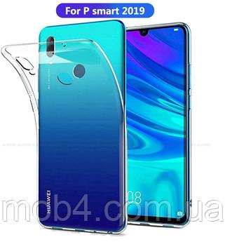 Прозорий силіконовий чохол для Huawei ( Хуавей) P Smart (2019)