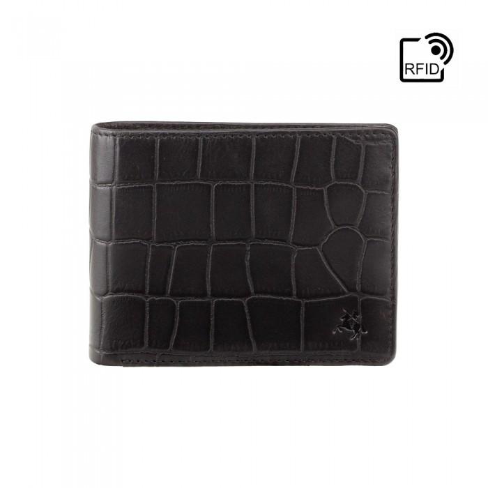 Гаманець чоловічий Visconti CR92 Gator c RFID (Black)