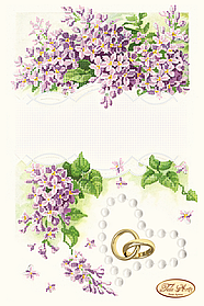 Схема для вышивки бисером Свадебная метрика Сирень