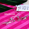 Серебряные серьги каффы Dragon Wings - Каффы минимализм серебро, фото 4
