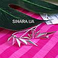 Серебряные серьги каффы Dragon Wings - Каффы минимализм серебро, фото 5