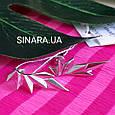 Серебряные серьги каффы Dragon Wings - Каффы минимализм серебро, фото 3
