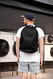 Городской рюкзак Classic Black, классический черный рюкзак, фото 2