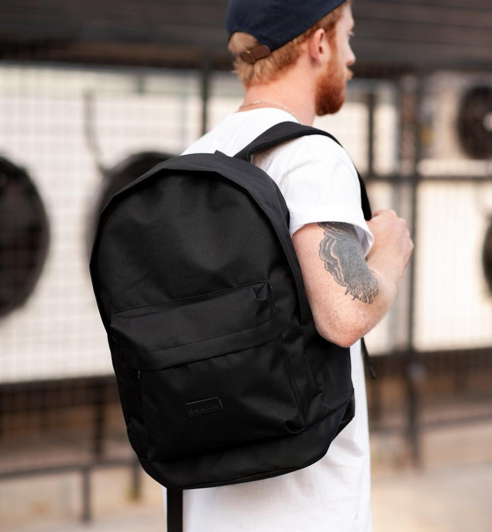 Городской рюкзак Classic Black, классический черный рюкзак