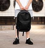 Городской рюкзак Classic Black, классический черный рюкзак, фото 3