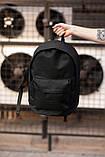 Городской рюкзак Classic Black, классический черный рюкзак, фото 6